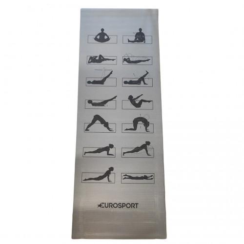 EUROSPORT Στρώμα γυμναστικής - 10MM YOGA MAT ES-YM10-GREY