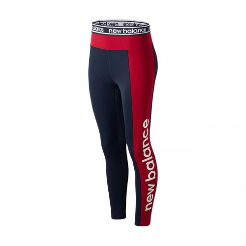 NEW BALANCE RELENTLESS GRAPHIC HIGH RISE 7/8 TIGHT WP01154-NCR Μπλε