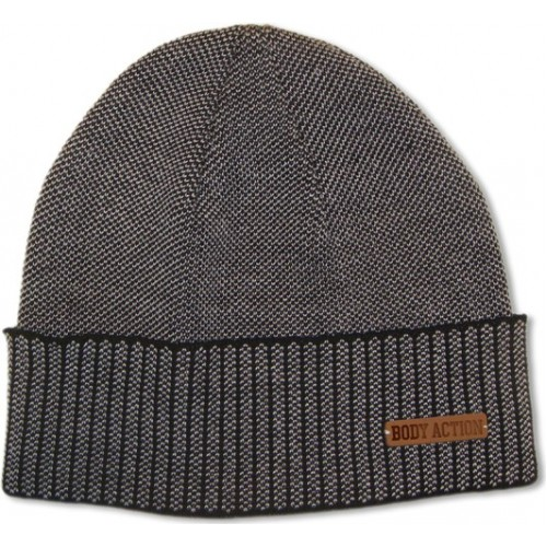 BODY ACTION  JACQUARD KNIT BEANIE HAT 095704-01